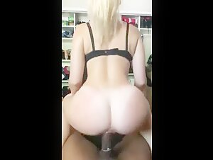 Hot Blonde Rides Black Dick