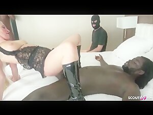 2 Black Dicks Fuck Pink Ass German Wife And Cuckold Husband Watches