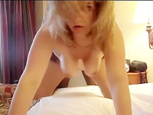 HUSBAND RECORDS BLONDE WIFE WITH BLACK BULL IN HOTEL