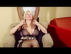 Taylor Foxxx With Black Hotel Serviceman